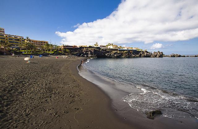 Tenerife Blue Flag Beach Playa de la Arena