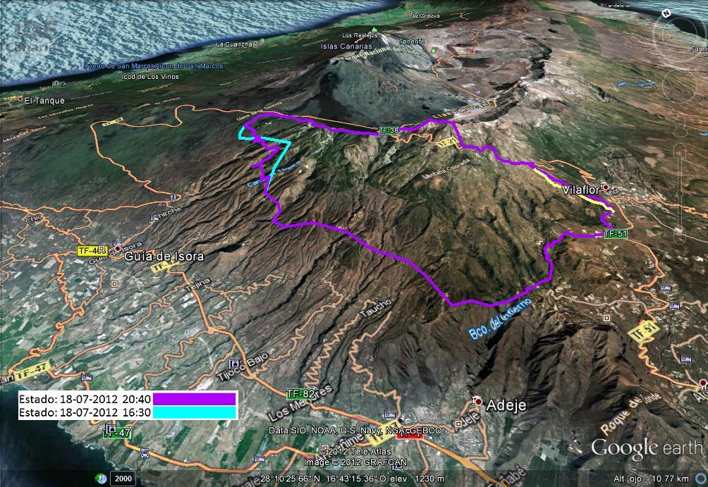 TenerifeFireMap2012 365 days to enjoy