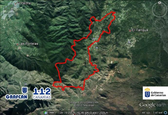La Gomera fire map
