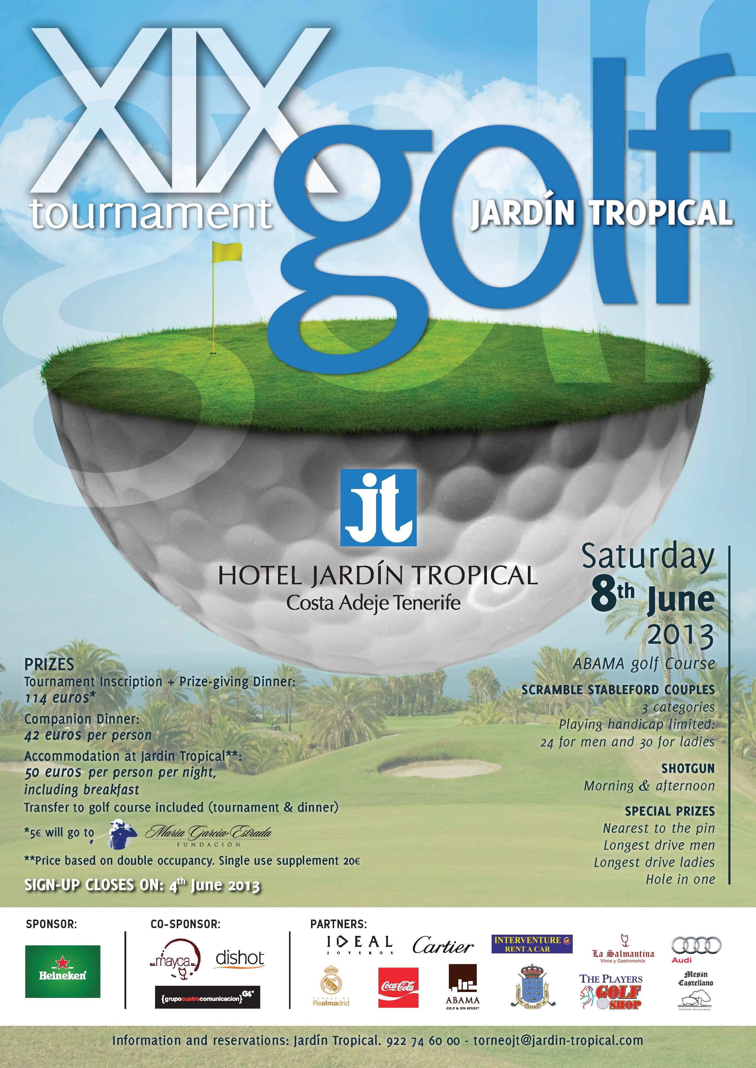 Hotel Jardin Tropical Golf Tournament 2013 365 Days To Enjoy
