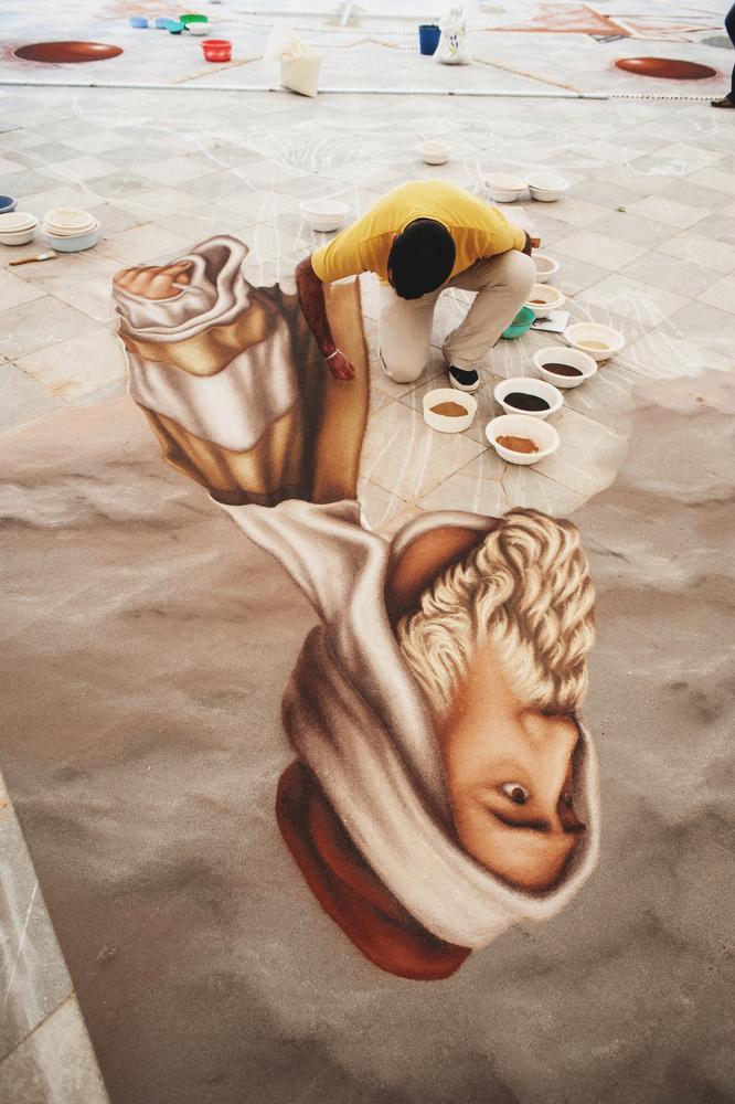 Corpus Christi, sand carpet