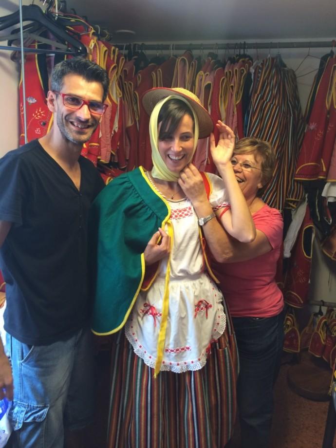 Borrow a dress at Casa Reyes
