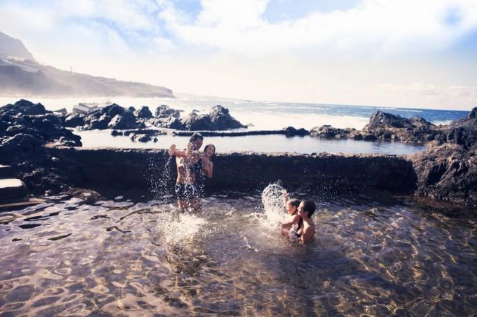 Natural seawater swimming pools